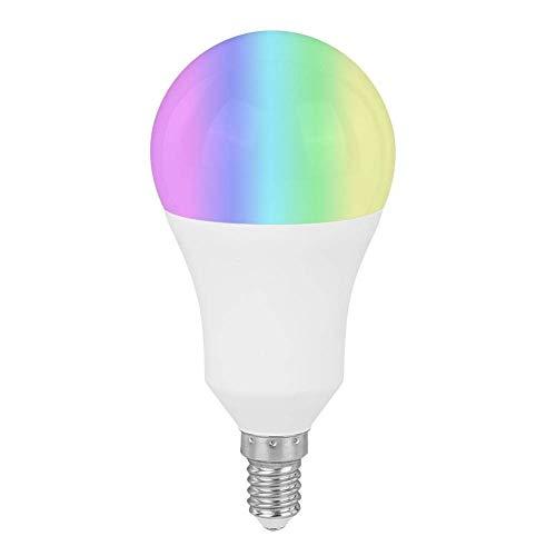 Ymiko Lampadina WiFi Lampadine Alexa, Lampadina Bluetooth Intelligente Cambiamento di Colore dimmerabile RGB, Lampadina 7W Lavora con Amazon, Alexa, Google Home e IFTTT, Tmall Genie(E14)