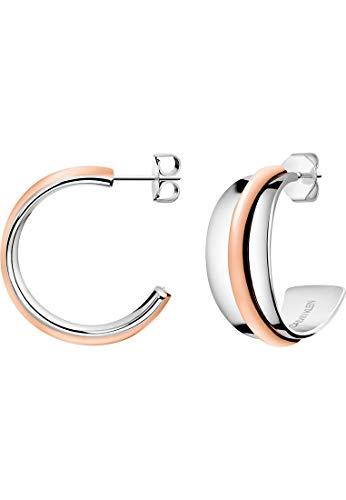 Calvin Klein Damen-Creolen Slinky Edelstahl, Edelstahl One Size 87934721