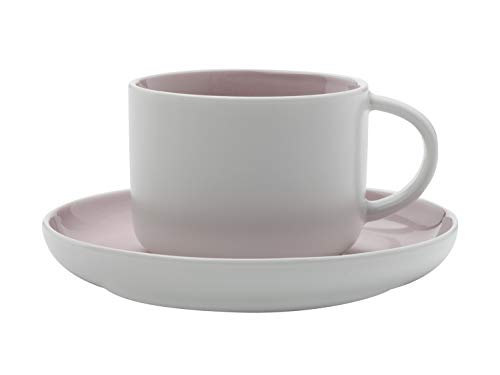 Maxwell Williams Tint Espressotasse und Untertasse in Geschenkbox, Porzellan, 100 ml, Rose pink, Volle Größe