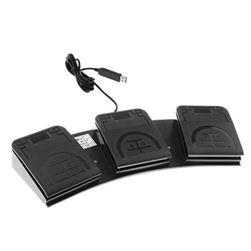 lahomia USB Triple Foot Switch Control Spiel Tastatur Aktion Tastenanschläge Für Computer