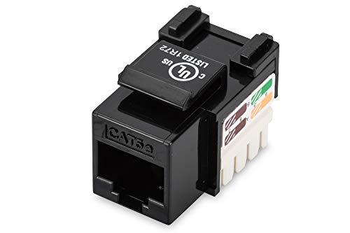 Digitus Modulo Keystone - Cat-5e - Non schermato - RJ45 - Classe D - 100 MHz - 1GBase-T - Senza Utensili di Montaggio - Nero