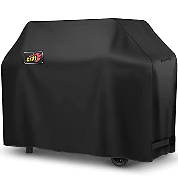 Grill Cover 58-Inch  Waterproof Heavy Duty BBQ Covers 600D Oxford Barbecue Grill Cover Rip & Fade Resistant 3-4 Burner Gas Grill Cover Fits for Nexgrill Char-Broil Weber Brinkmann etc Bag Included