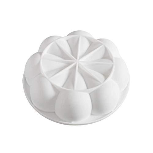 Molde de silicona para tartas con mousse italiano, para decoración de tartas, magdalenas, postres, chocolate, fondant, color blanco