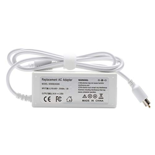 YTech 65w 24.5V 2.65A AC Adapter Charger Power for Apple Powerbook Book/iBook G4 15 inch 17 inch A1021 A1133 M4328 M8943 M8943LL/A White