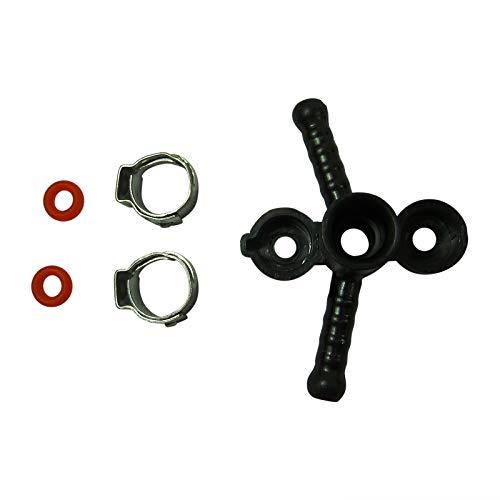 Set Ventil Raccord Verteiler Verbindung + 2 Schlauchklemmen + 2x O-Ringe SAECO Minuto Incanto PicoBaristo HD-Serie
