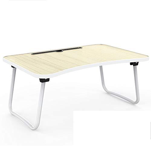 Yxsd Klappbarer Laptop-Schreibtisch, Multifunktions-Festschlitz 60 ° abgerundete Tischplatte 4 Farben (Color : Fruit Color)