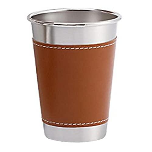 fedsjuihyg Taza de Cerveza del Acero Inoxidable de los vidrios de consumición con Las Tazas para Beber Funda de Pinta a la Cubierta Actividades Parte L