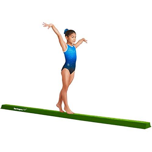 Springee 10ft Balance Beam - Extra Firm - Suede Folding Gymnastics Beam for Home - Purple