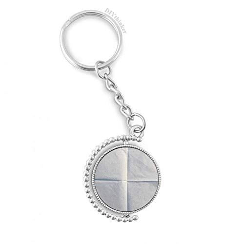 DIYthinker Papier Sauber Ordentlich Falten Textur Drehbare Schlüsselanhänger Ringe 1.2 Zoll x 3.5 Zoll Mehrfarbig
