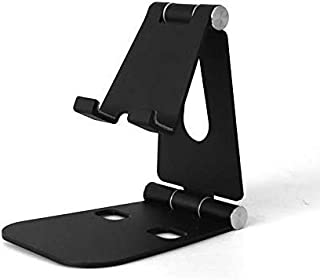 Desktop Cell Phone Stand, Double Adjustable Mobile Phone Tablet Holder, Aluminum Portable Desk Stand for iPhone 11, iPhone...