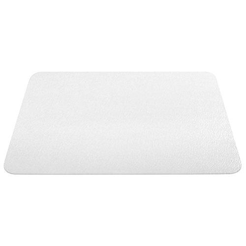 MVPower Polycarbonat Bodenschutzmatte Transparent PVC Büromatten Bürostuhlunterlage für Hartböden Laminat, Parkett und Fliesen(2 Stück)