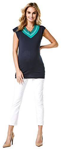 Noppies Jeans OTB 7/8 Slim Mila Blanc Vaqueros premamá, Weiß, 34 para Mujer