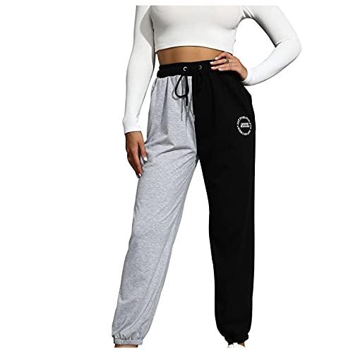 BaZhaHei Mode Damen Druck Elastisch Lose Freizeithose Jogginghose Weich und Bequem Yogahosen Breite Beinhosen Pluderhose Hosenhose Sporthose für Yoga-Training mit Taschen