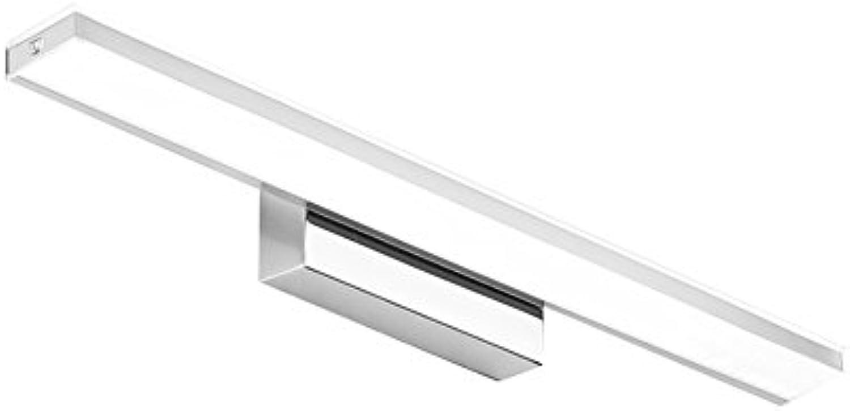 GXIAO Spiegelleuchten Licht LED Badezimmer Spiegel Frontleuchte Kosmetikspiegel Frontbeleuchtung Bad Wandleuchte Silber European Style Sicherheit Energiesparen (Farbe   Wei, gre   40 cm)