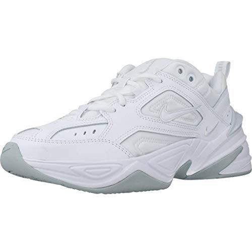 Nike W M2k Tekno, Scarpe Running Donna, Bianco White White Pure Platinum 100, 40.5 EU