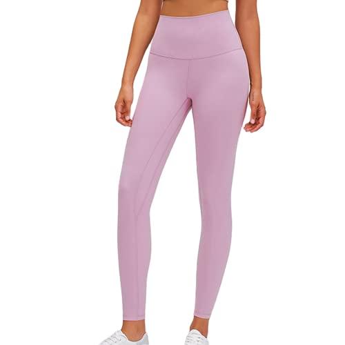 QTJY Estirar Gimnasio Deportes Pantalones de Yoga Flexiones Celulitis Ejercicio Leggings Cintura Alta Nalgas Correr al Aire Libre Biblioteca B S