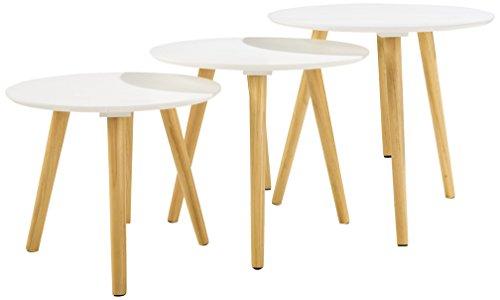 Soliving Lot de 3 Tables, Bois, 48 x 48 x 45 cm
