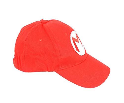 ValuePack Super Mario Gorra Boina Cosplay para Adultos&Jóvenes Algodón Sombrero Rojo Estampa