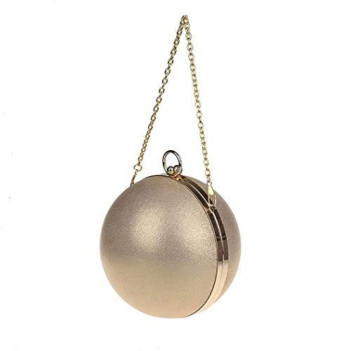 Fankeshi Damen-Handtasche / Clutch, schlicht, rund, für Partys, Hochzeiten, Gold (gold), Einheitsgröße