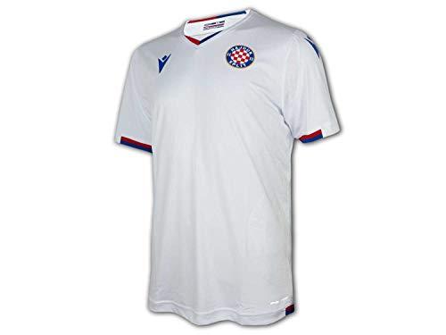 Macron Hajduk Split Heimtrikot 20 21 weiß Hajduk Home Shirt Fan Jersey Kroatien, Größe:L