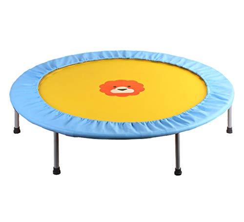 LKFSNGB sporttrampoline, opvouwbaar, voor kinderen, mini-trampoline, veilig en duurzaam, kogellagers, belasting 100 kg, roze en blauw