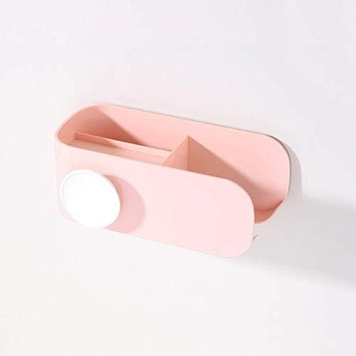 AHTOSKA Wandhalterung für Haartrockner, Kunststoff, Aufbewahrungsregal für Küche, Badezimmer, Organizer, Haartrockner, Zuhause (Pink)