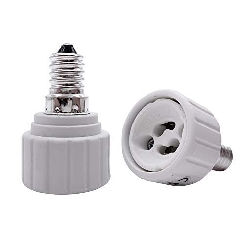 YAYZA! 2er-Pack E14-auf-GU10-Lampenfassungsadapter maximale Leistung 500 Watt hitzebeständig bis 220 ℃ keine Brandgefahr CE-zertifiziert
