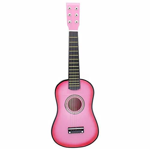 Anfänger Ukulele 23 Zoll Anfänger Schüler Adult Ch 23-Zoll-Kindergitarre Spielzeug Kleine hölzerne Gitarre Musikinstrumente Kinder Lernspielzeug Kinder Studenten Erwachsene Anfänger (Farbe : Rosa)