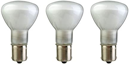 CEC Industries #1383TF (Frosted) Silicone Coated, Frosted Bulbs, 13 V, 19.5 W, R-12 Shape (3-Pack)