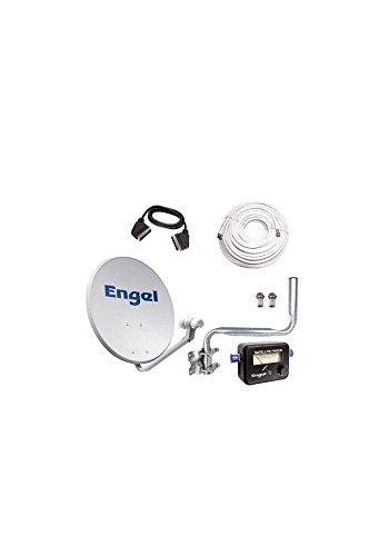 Kit Antena PARABOLICA ENGEL 60CM+ LNB+LOCALIZADOR + Kit INSATAL. NO Incl. Receptor AN0302E