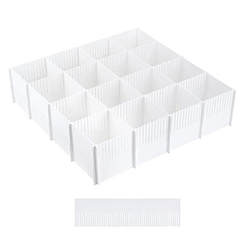 Separador Cajones, Organizador Cajones, Organizador de almacenamiento de cajón ajustable DIY de 10 piezas para artículos diversos, herramientas de maquillaje y calcetines (blanco)