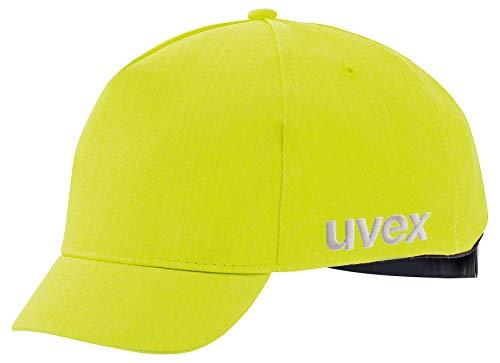 Uvex U-Cap Sport Hi-Viz aanzetkap - korte klep - waarschuwingsgeel - 60-63 cm Pet met klep. 60-63 cm lichtgeel