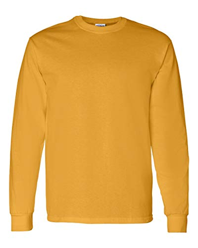 Gildan Mens 5.3 oz. Heavy Cotton Long-Sleeve T-Shirt G540 -GOLD M