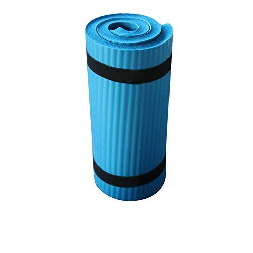 SUNERLORY Estera de Yoga, Antideslizante, Gimnasia para Ejercicios, Plegable para Principiantes, cojín Deportivo(Azul)