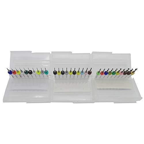 HPiano Hartmetall Mikrobohrer 30 Stücke PCB Leiterplatte Hartmetall Micro Bohrer 1/8