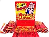 Hannah's Red Hot Sausage - Individually Wrapped Sausage Sticks - 50 (.70 oz Meat Snack Sticks) Per Box