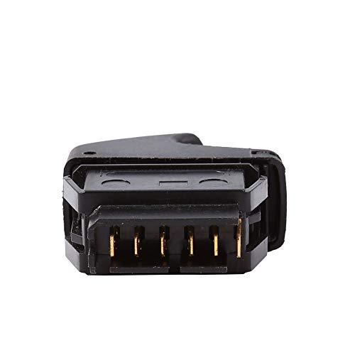 YuQiLin Interruptor de Control de Ventana eléctrica de Coche de 12 V y 6 Pines/Apto para -Renault Clio II 2 Megane I Kangoo/Interruptor de Ventana de Potencia única de plástico
