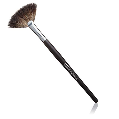 Fantasia 18049, Fächerpinsel Kosmetik Professioneller Makeup Pinsel feinstes Naturhaar Länge 19cm, Braun