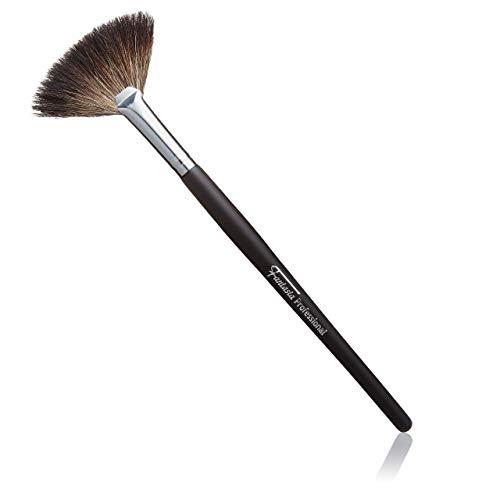 Fantasia Fächerpinsel Kosmetik, Professioneller Makeup Pinsel, feinstes Naturhaar, Länge: 19cm