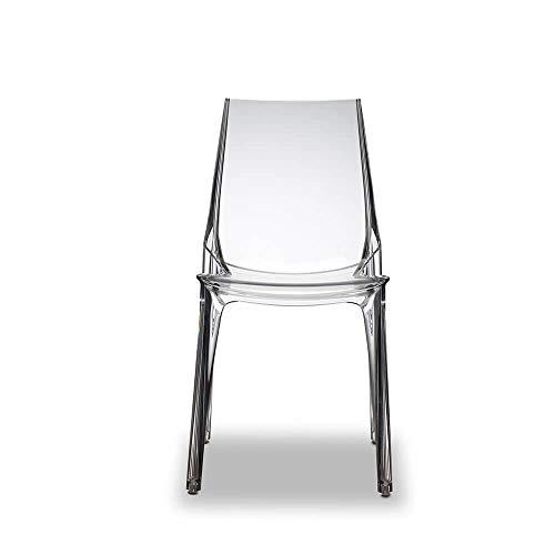 2x Silla de diseño Vanity de policarbonato y fabricación italiana SCAB (Pack de 2)
