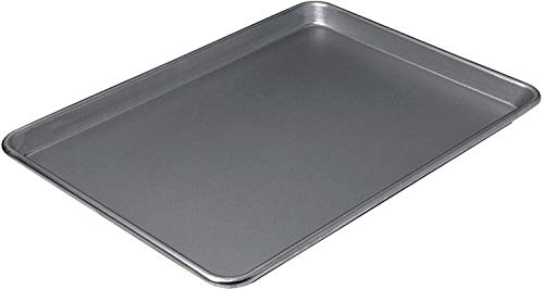 "Nonstick Jelly Roll Sheet Pan Cookie Baking Tray 17″ x 13″ ""baking pan Baking pans Baking set Bakeware sets Baking sheets Baking pans set Baking sheets for oven Cookie sheets for baking"