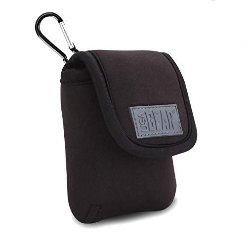 USA Gear GRFAD35100BKEW Tasche für Diabetes Glukosemeter mit Gürtelhalterung und Karabiner, Schwarz