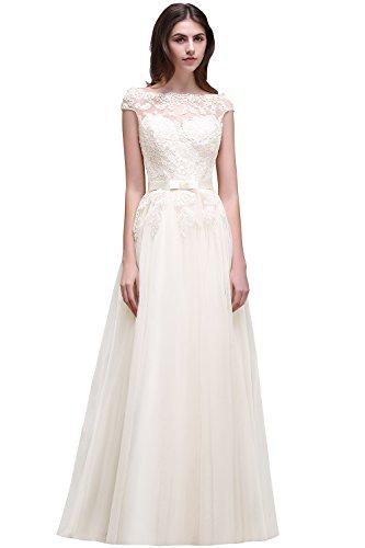 Babyonline® A-Linie Lang Chiffon Perlen Herz-Ausschnitt Abendkleid Ballkleid Brautjungfernkleid 40