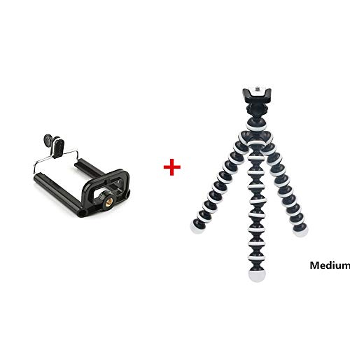 Metermall Electronics For Octopus Tripod Stand Flexible Installation for Digital Camera Phone Stand M + Phone Clip