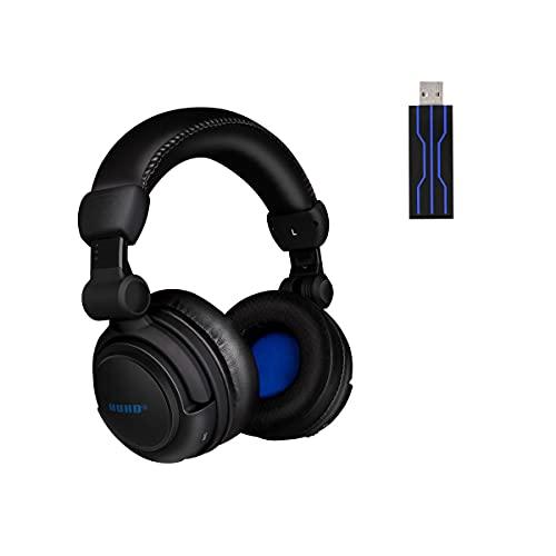 HUHD HW-933U Auriculares Inalámbricos para Juegos, Altavoz con vibración 4D, Auriculares Gaming para PS4 PS5 PC Nintendo Switch, Negro