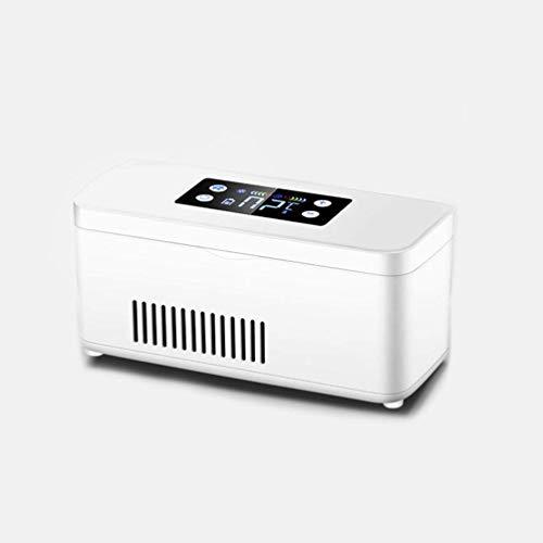1yess Medicina insulina USB Refrigerador Mini refrigerador Llevan el Cuadro Portable Constante Inteligente de Temperatura Pequeña Recargable Frigorífico, Blanco, 2 Pilas