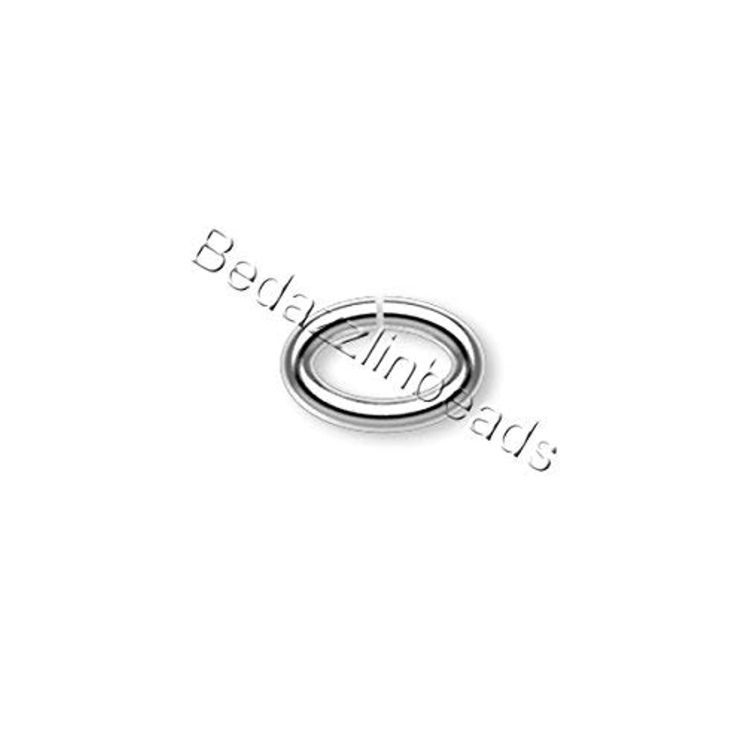 Lot of 100 Oval 18 Gauge Open Jumpring Jewelry Ring Findings (8mm x 6mm, Silver Plated) ivchocidmaxwkt