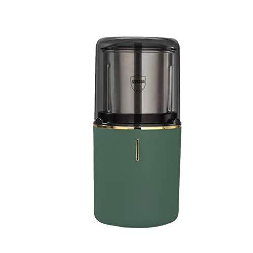 Basage Tragbare Kaffee MüHle Elektrische Bohnen Nuss KrrUter MüHle Kaffee Mohnen Multifunktionale Kaffee Maschine für KüChe, GrüN