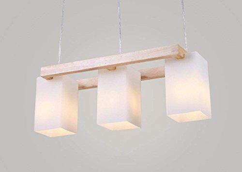 JBP Max kroonluchter Light Shades plafond lamp imitatie hout tafel eetkamer verlichting massief houten lamp glazen lampen kap