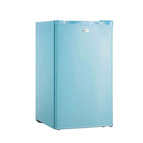 DKBE - Mini nevera de puerta simple con congelador con estantes de cristal regulables, refrigerador compacto retro 90 l, ajuste de temperatura a 7 velocidades